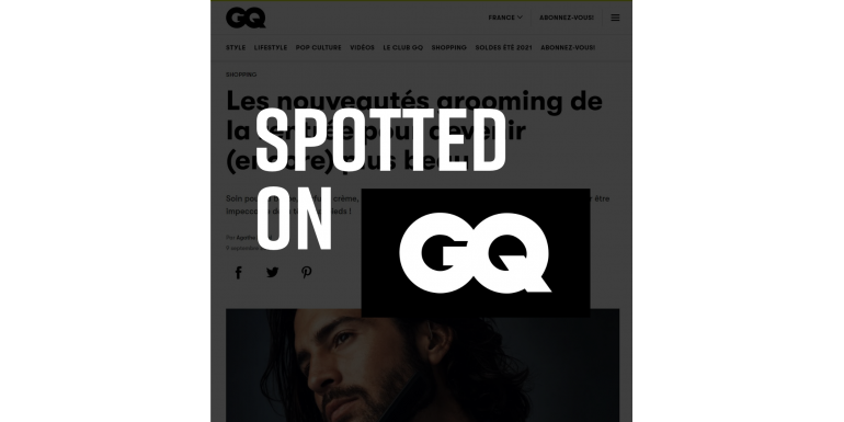 Spotted on GQ !